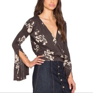 Free People | Fiona floral wrap top